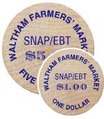 toWaltham Farmers' Market tokens